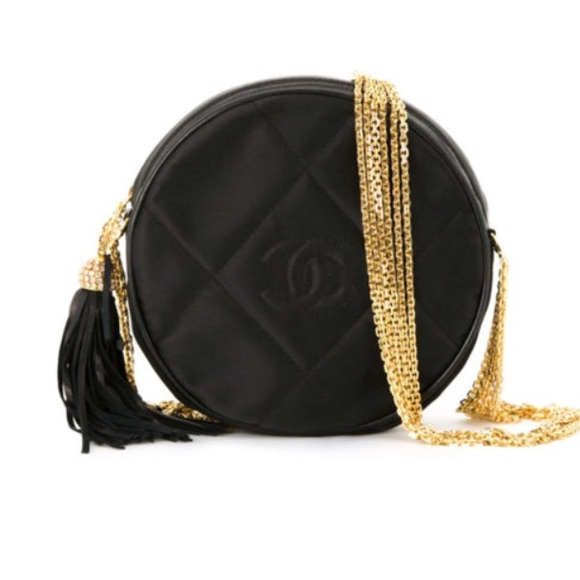 c094159be926 CHANEL Handbags - Chanel Vintage Round Shoulder Crystal Tassel Bag